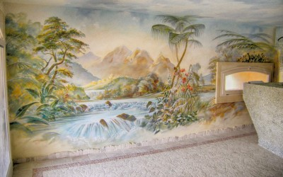 Mural for sauna room