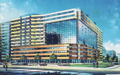 Bari office building rendering