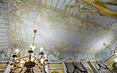 Trompe l'oeil atrium ceiling