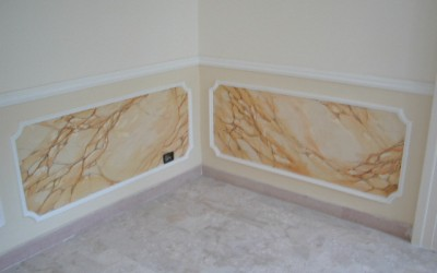 Faux marble inlay